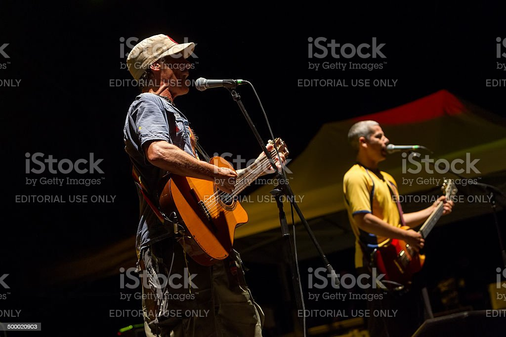 Concert of the band Manu Chao La Ventura stock photo