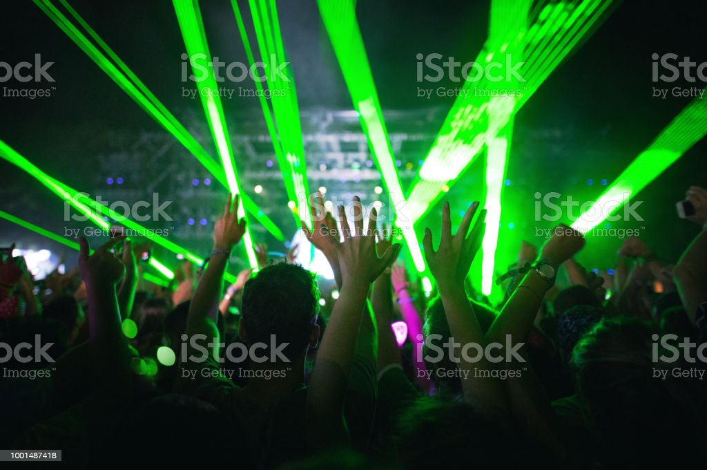 Concert party stock photo
