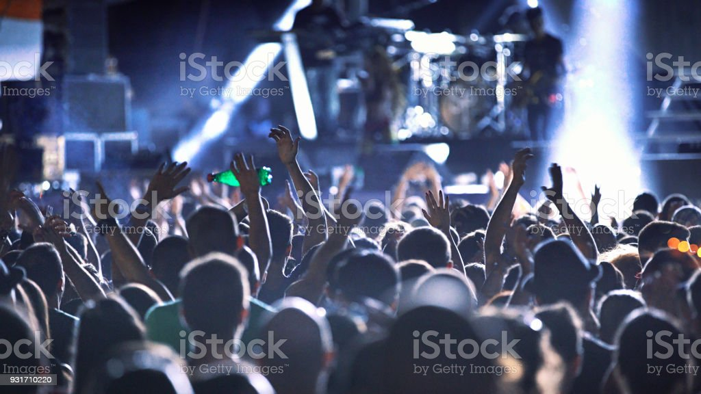 Concert party. stock photo