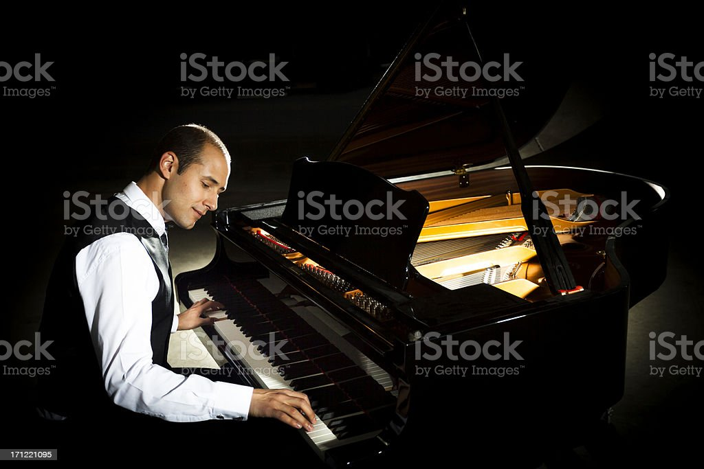 Concert Pianist stock photo
