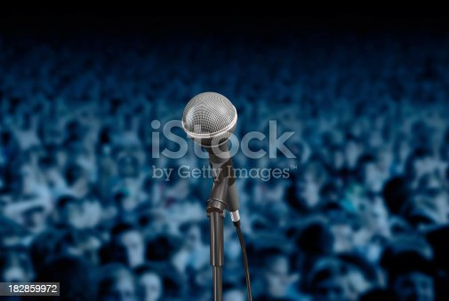 Mic and fans.