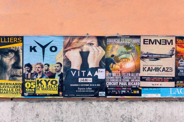 Affiches de concerts - Photo