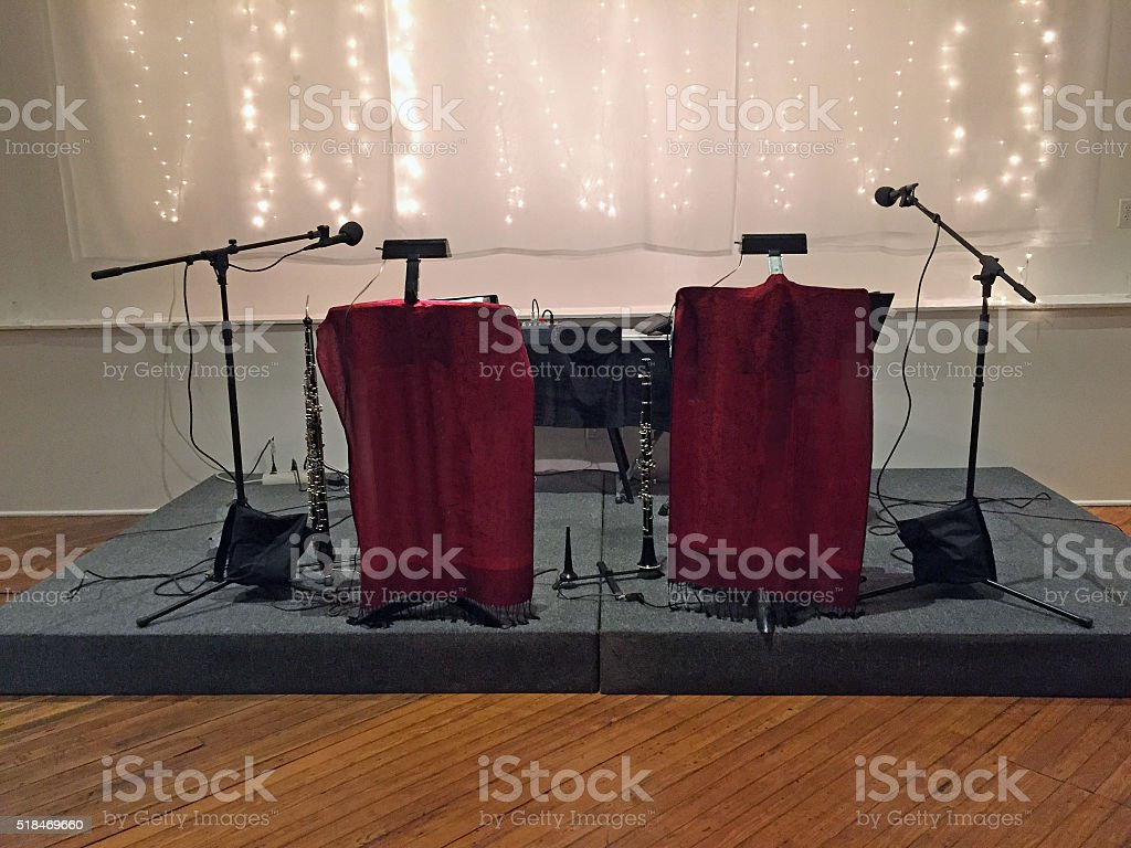 Concert Set-up on Stage stock photo