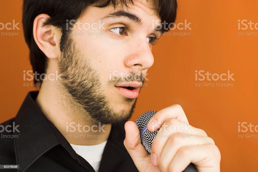 Concert Singer royalty-free stock photo