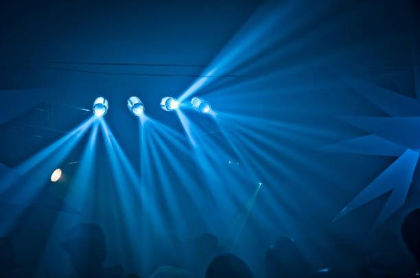 Concert Spotlights stock photo