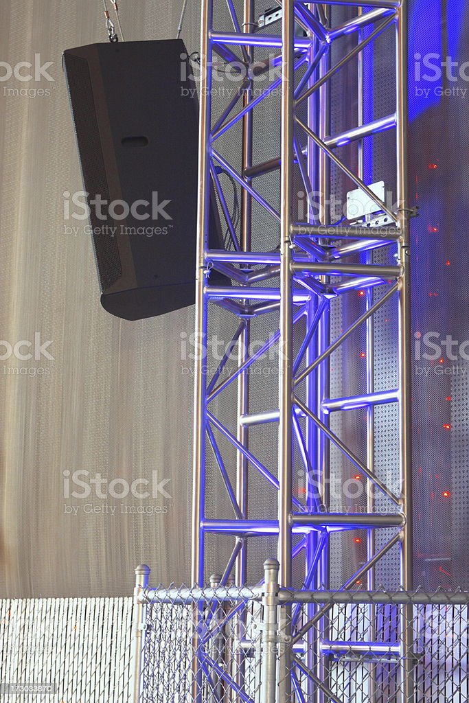 Concert Stage Music Speaker Sound Equipment royalty-free stock photo