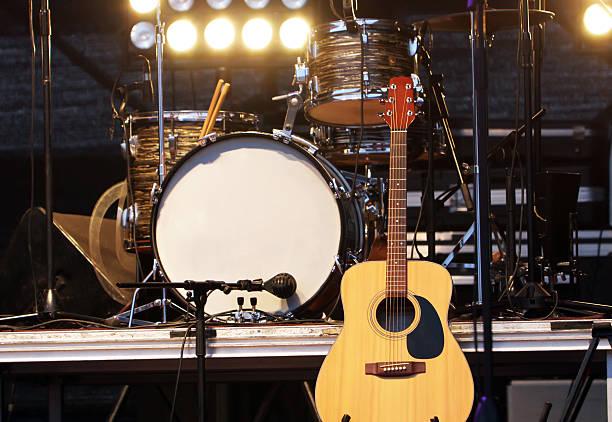 konzertbühne - stage musical stock-fotos und bilder