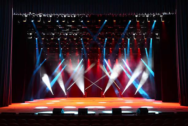 Concert stage stock photo