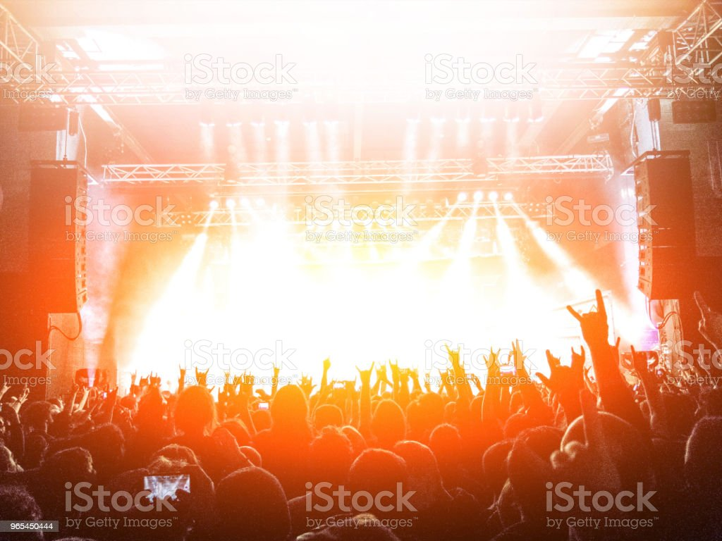 Concert stage with lens flare royalty-free stock photo