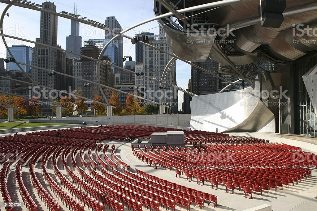 Concert venue in Chicago royalty-free stock photo