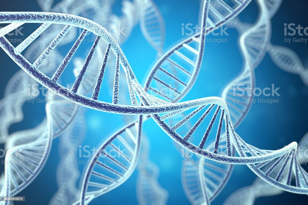 Concetp digital illustration DNA structure. 3d rendering stock photo