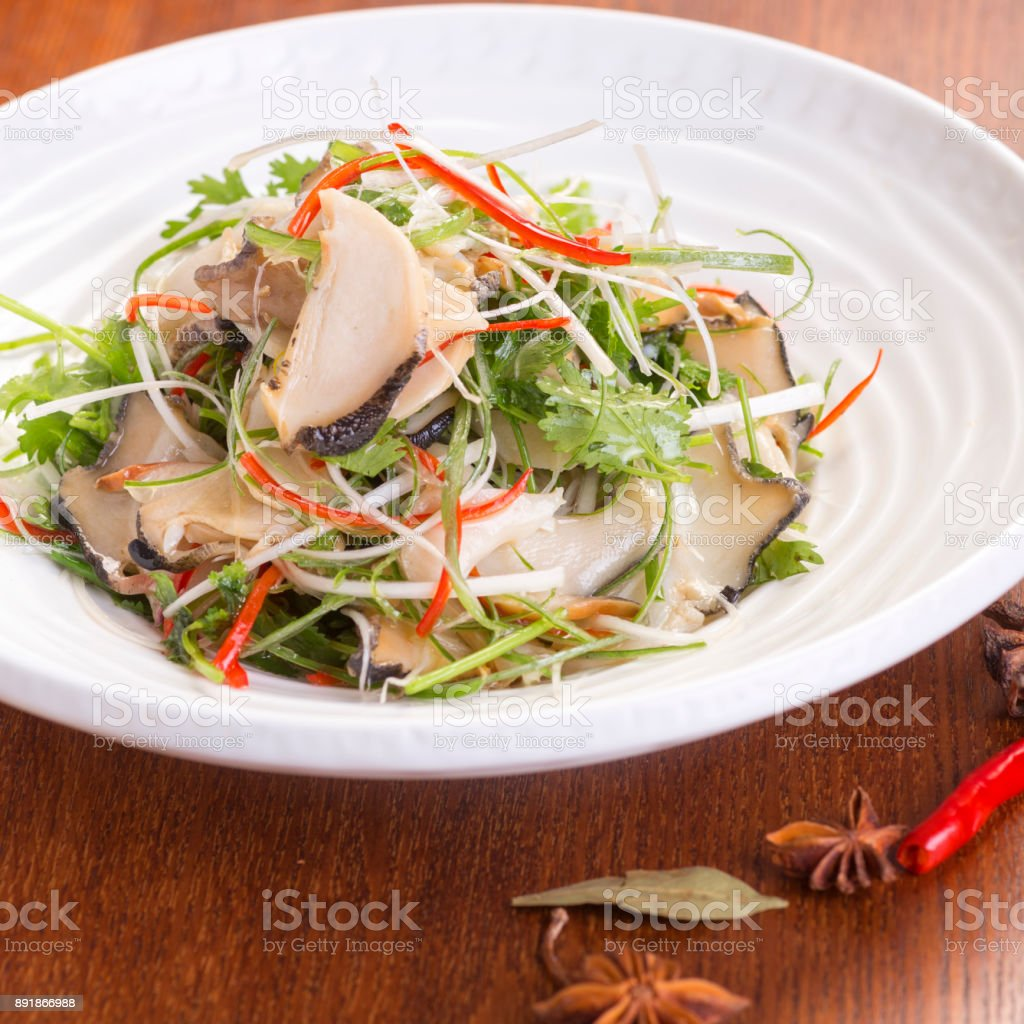 Conch meat stock photo