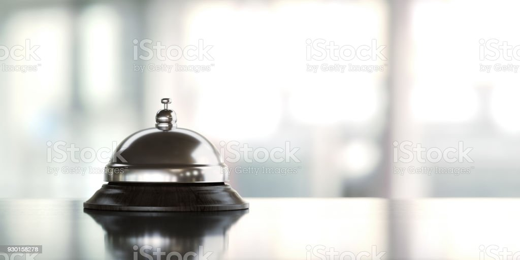 Concierge Bell Over Defocused Background stock photo