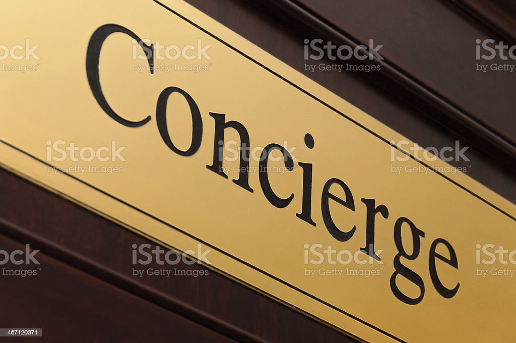 Concierge sign royalty-free stock photo