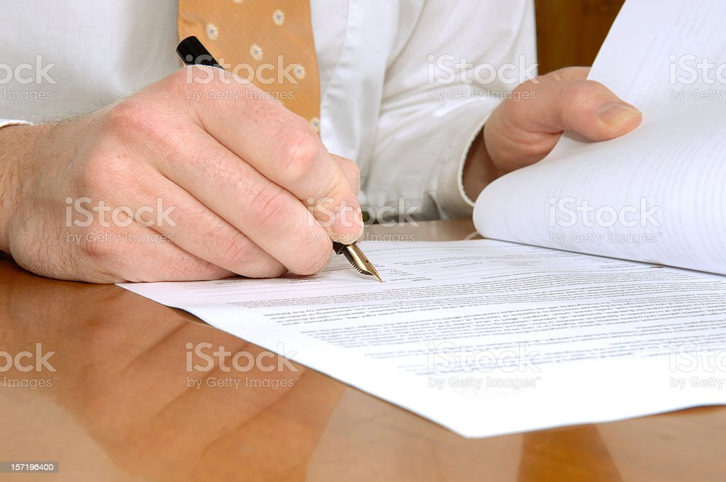 conclusion of a contract royalty-free stock photo