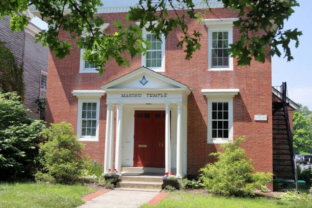 Concord Masonic Corporation, Concord, MA. stock photo