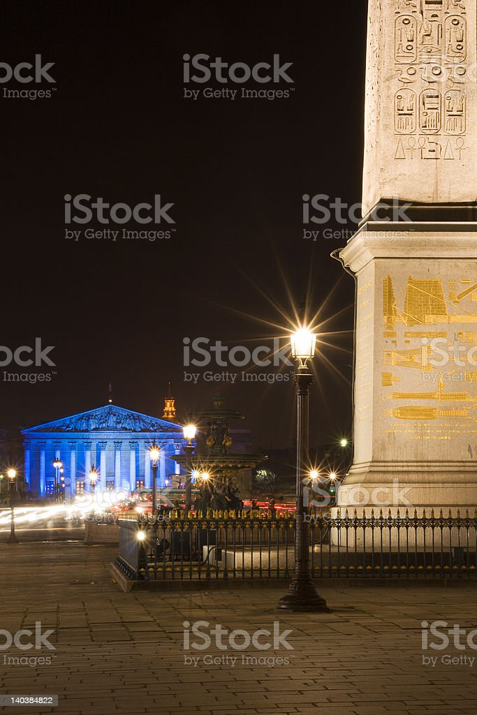 Concord obelisk and Bourbon palace royalty-free stock photo