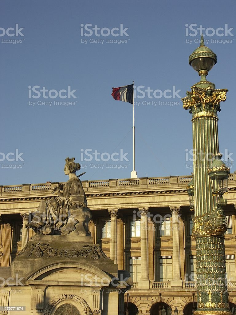 Concorde place in Paris royalty-free stock photo