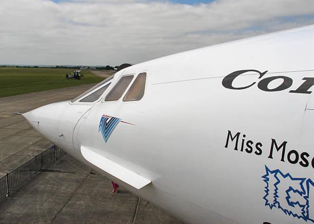 commerciale avion supersonique concorde - avion supersonique concorde photos et images de collection
