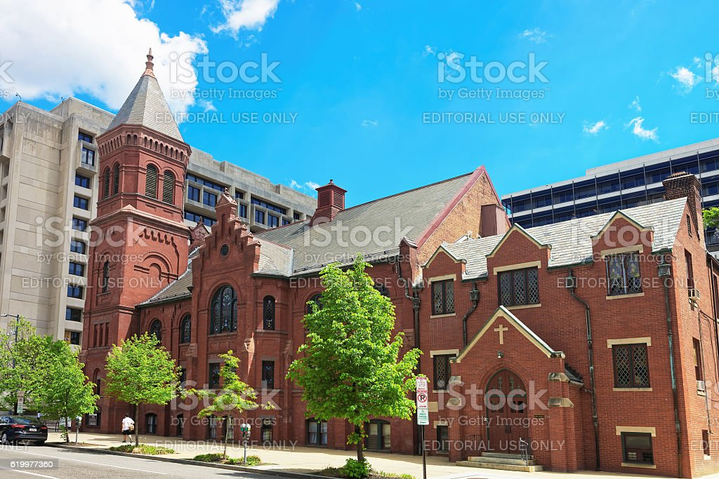 Concordia German Evangelical Church and Rectory in Washington stock photo