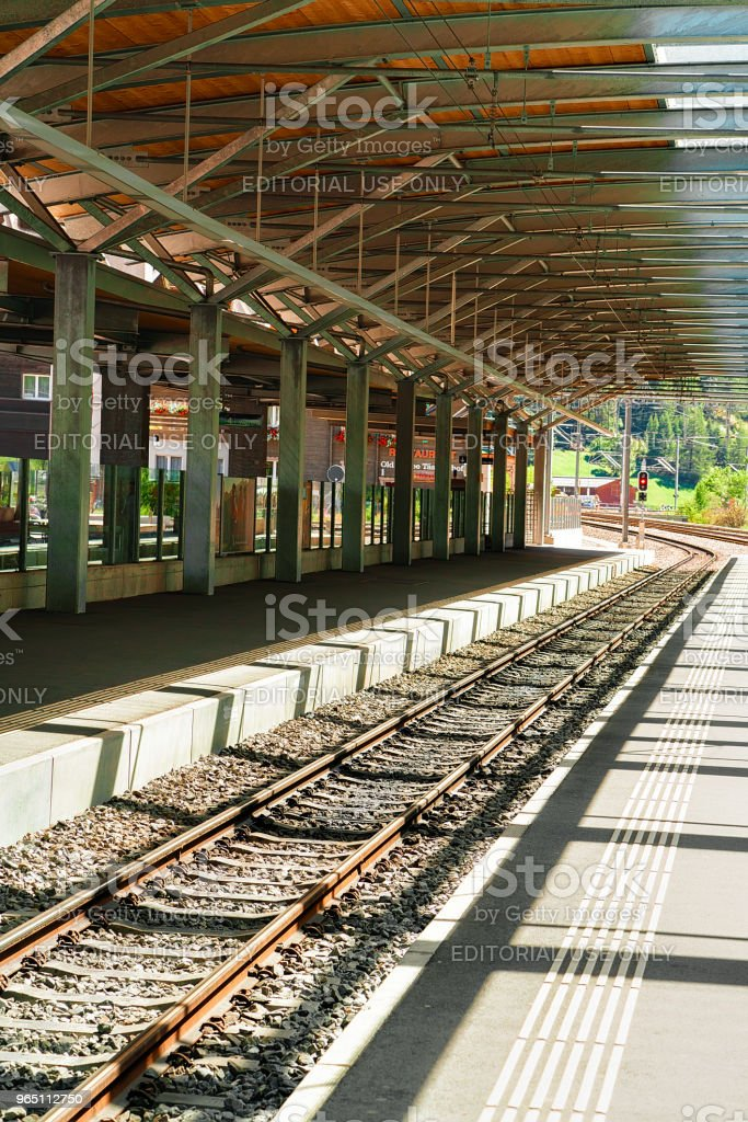 Concourse at Railway train station at Zermatt Valais CH royalty-free stock photo