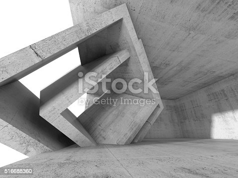 516688156istockphoto Concrete 3 d room with cubic interior structures 516688360