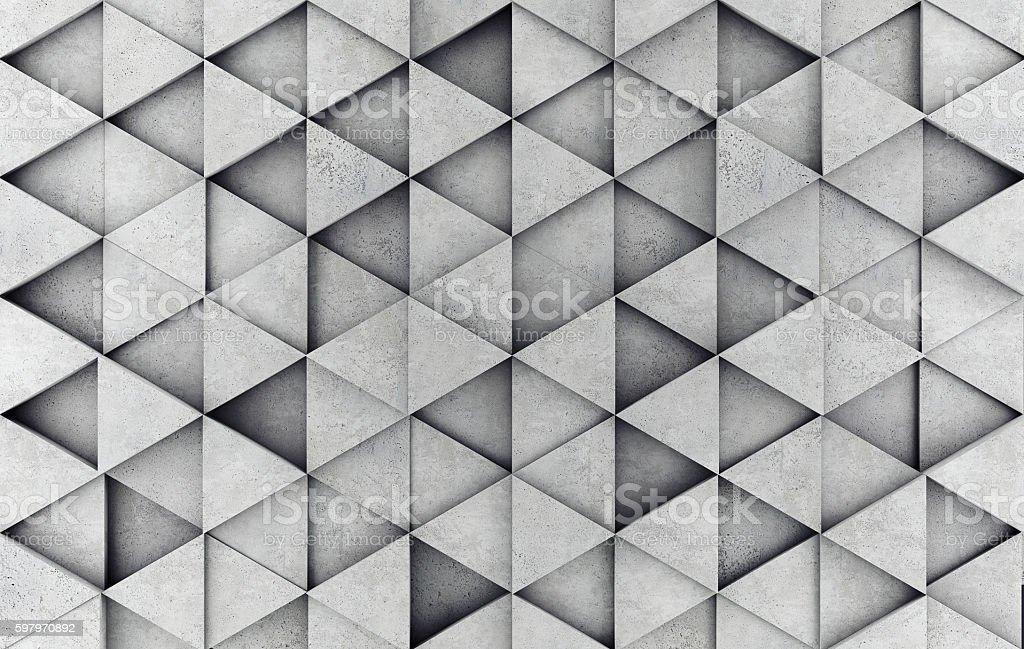 Concrete 3d prism wall stock photo