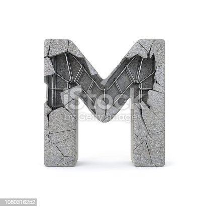istock Concrete Alphabet M 1080316252