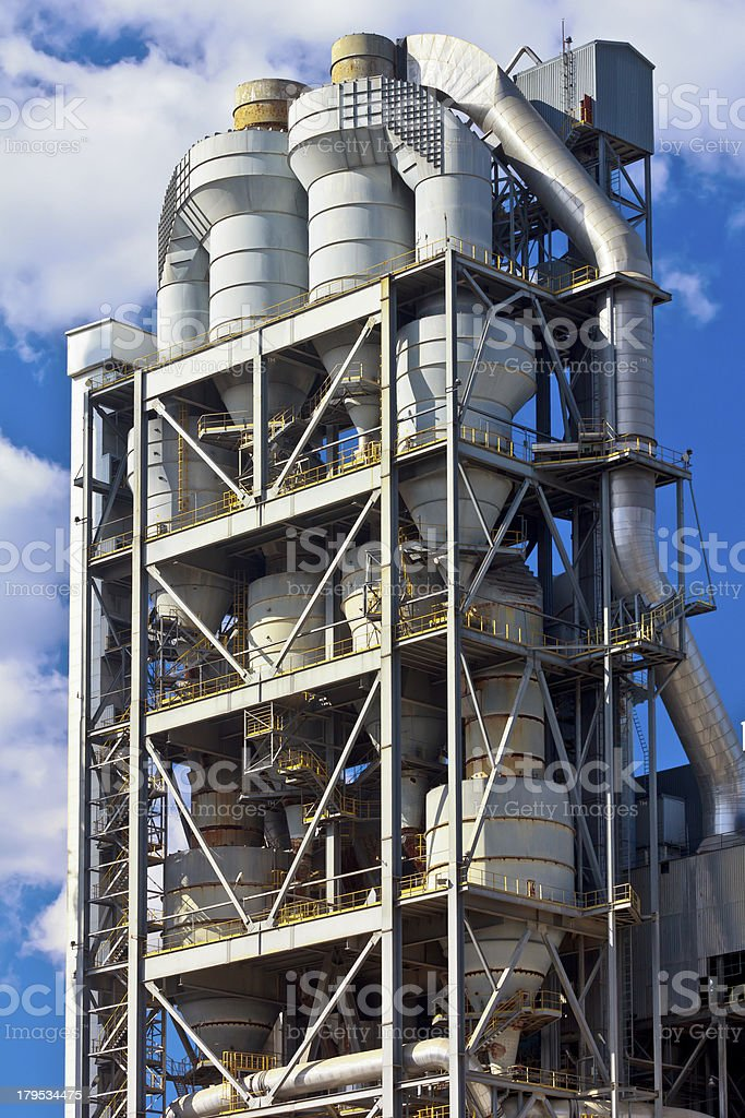 Concrete And Cement Factory Poland Stock Photo