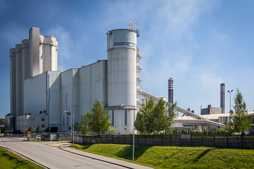 Concrete and cement factory, Katowice, Poland