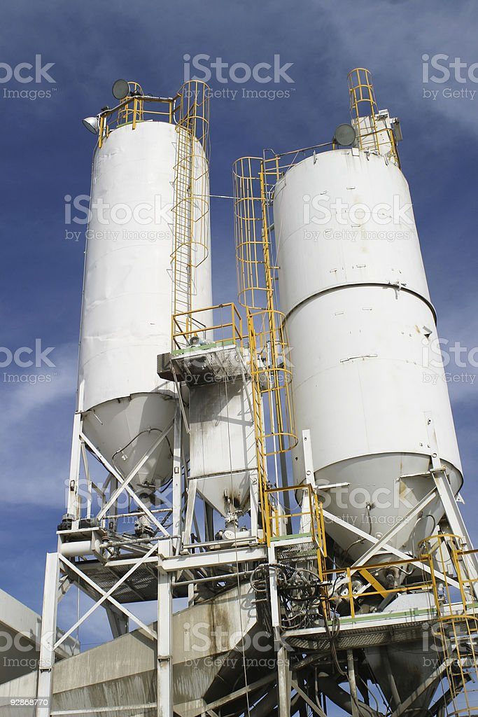 Concrete and Cement Plant royalty-free stock photo