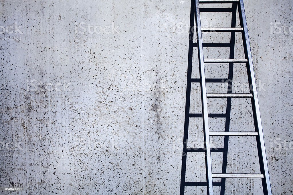 Concrete and ladder background stock photo
