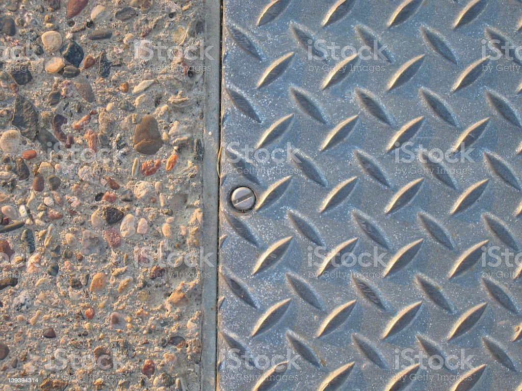 Concrete and Steel Texture royalty-free stock photo