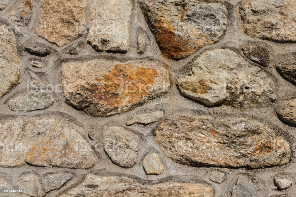 concrete and stone wall stock photo