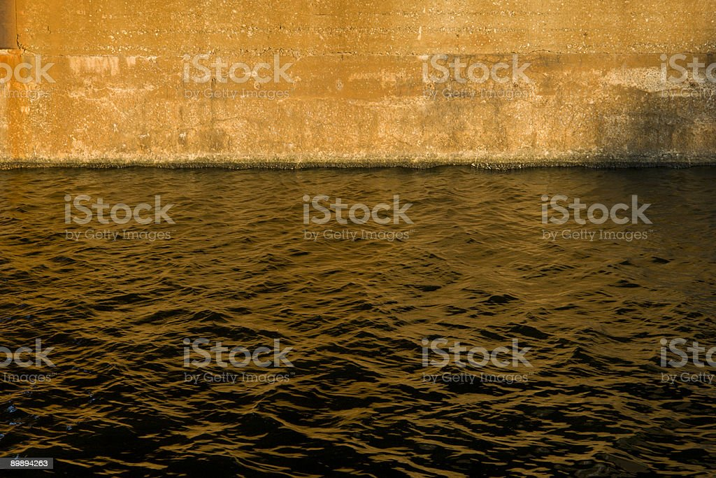 Concrete and Water royalty-free stock photo