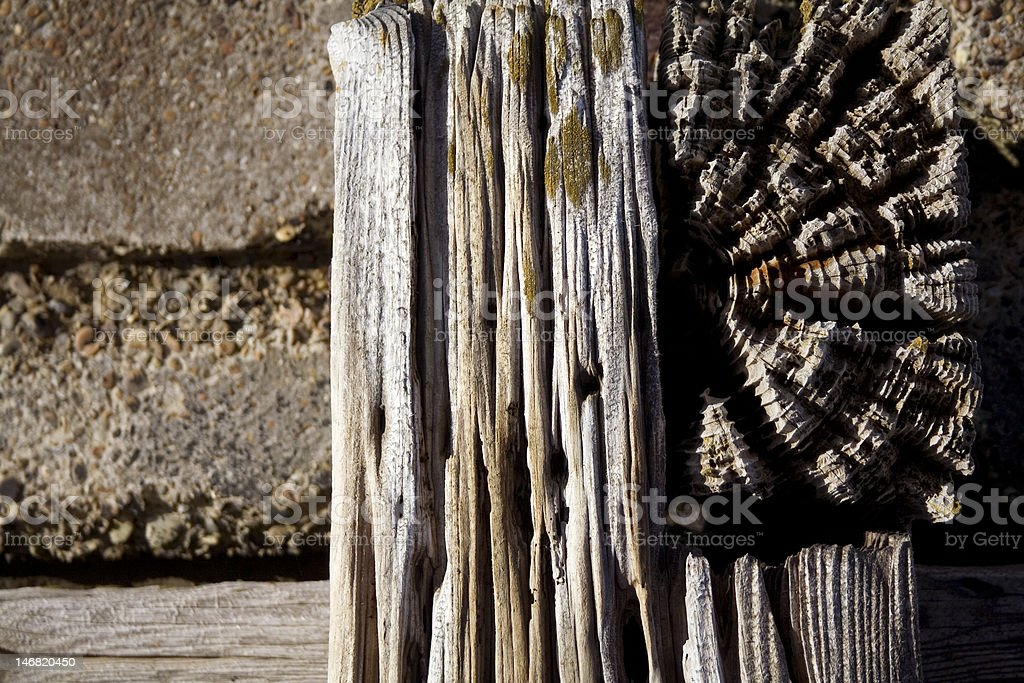 Concrete and Wood stock photo
