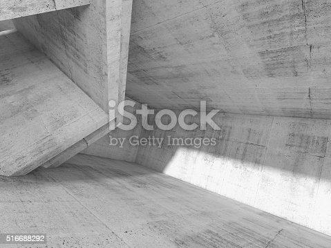 516688156istockphoto Concrete architecture background, 3d render 516688292