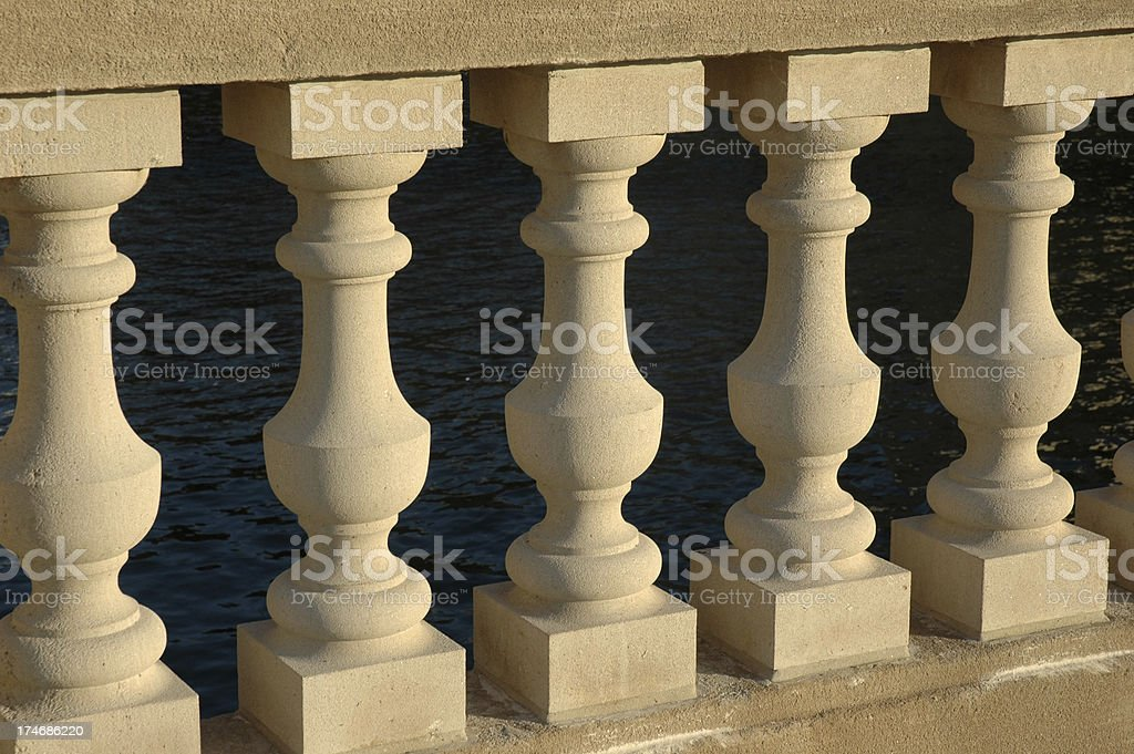 Concrete Balusters stock photo