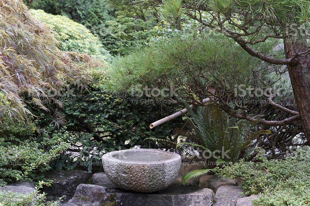 Photo libre de droit de Béton Bambou Fontaine Le Jardin Japonais De ...