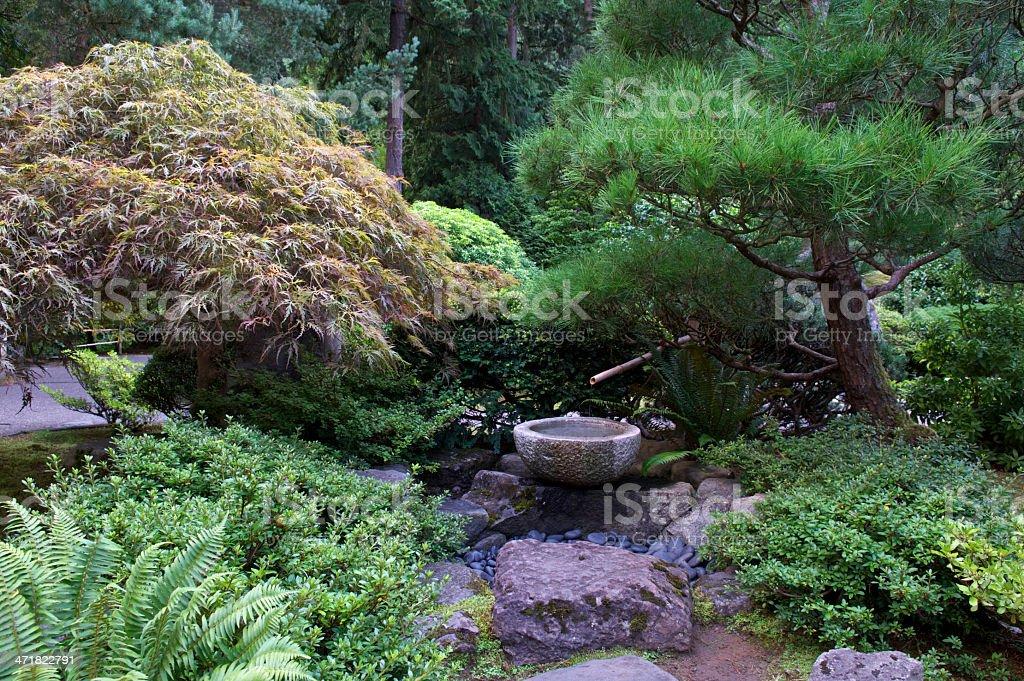 Photo de stock de Béton Bambou Fontaine Le Jardin Japonais De ...