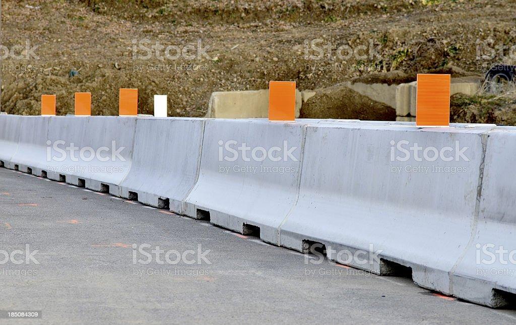 Concrete Barrier stock photo