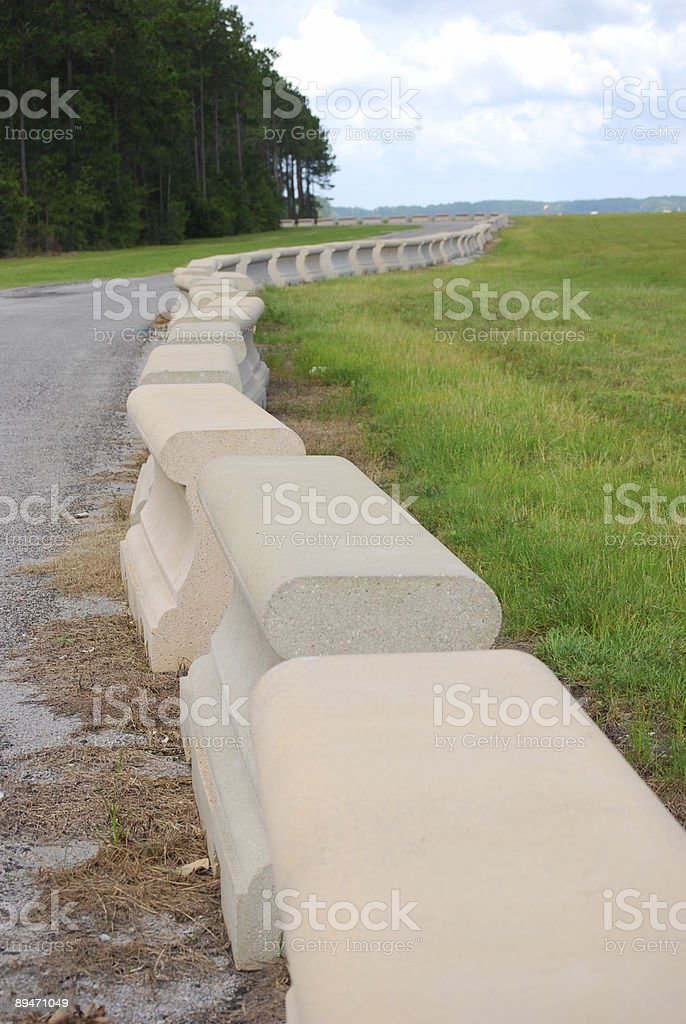 Concrete Barriers royalty-free stock photo