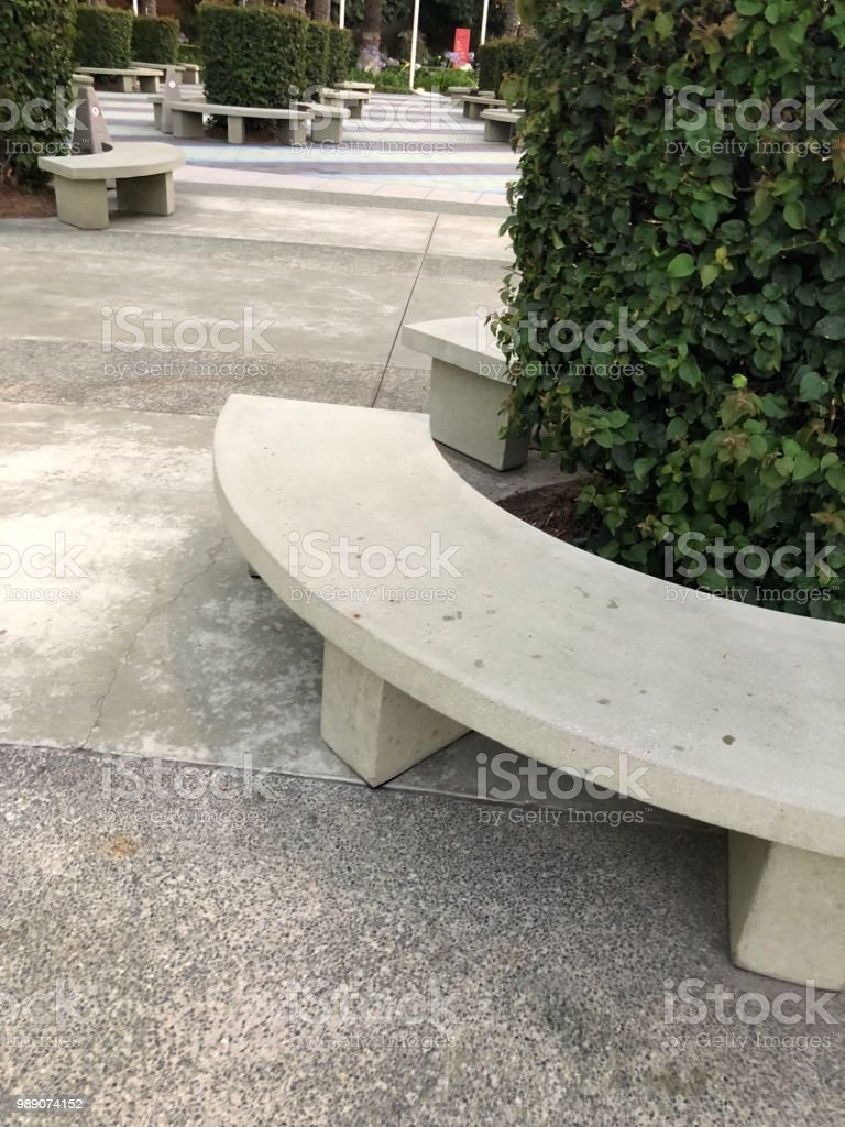 Fabulous Concrete Bench Seat Stock Photo Download Image Now Istock Andrewgaddart Wooden Chair Designs For Living Room Andrewgaddartcom