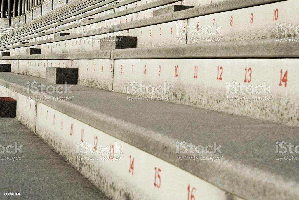 Concrete Bleachers stock photo