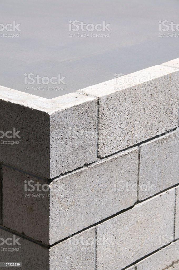 Concrete Block Corner stock photo