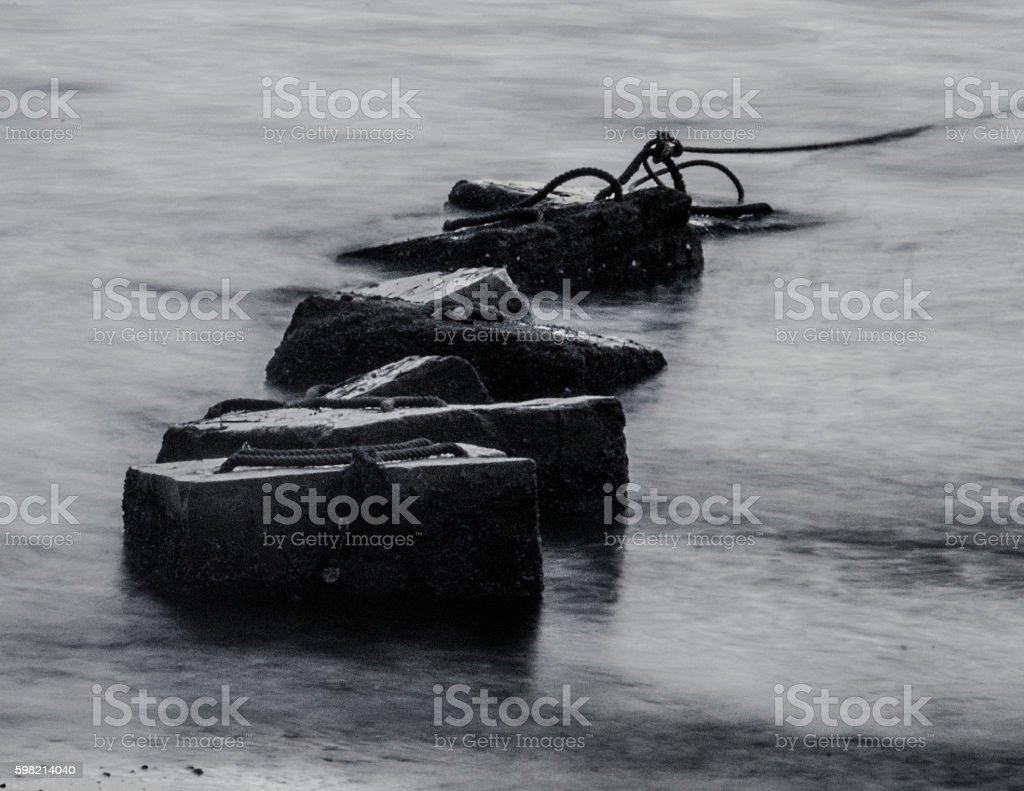 Concrete block in sea foto royalty-free