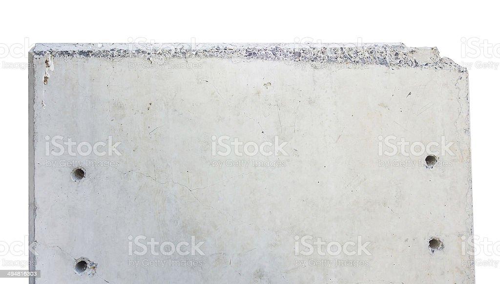 Concrete Block ,isolated on white background stock photo