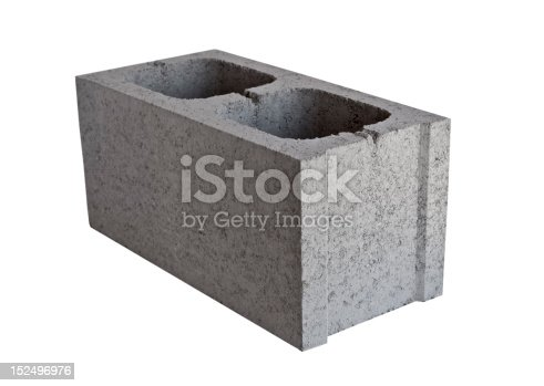 concrete block Isolated On White Background