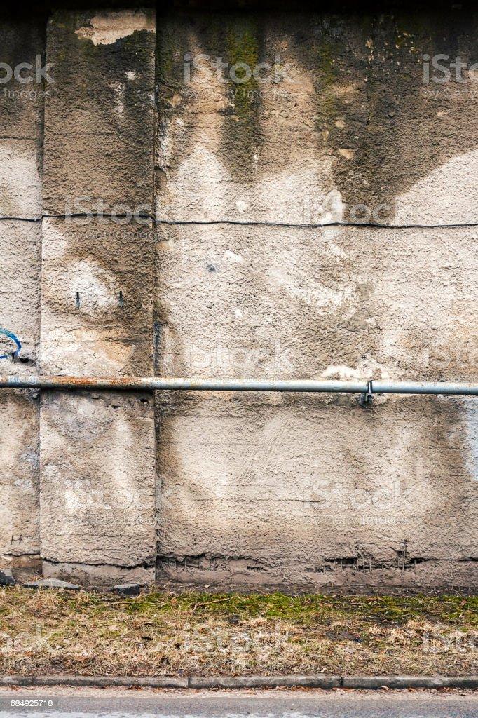 Concrete block wall Lizenzfreies stock-foto