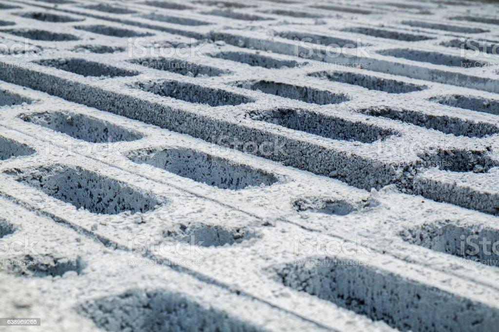 Concrete Blocks for construction stock photo